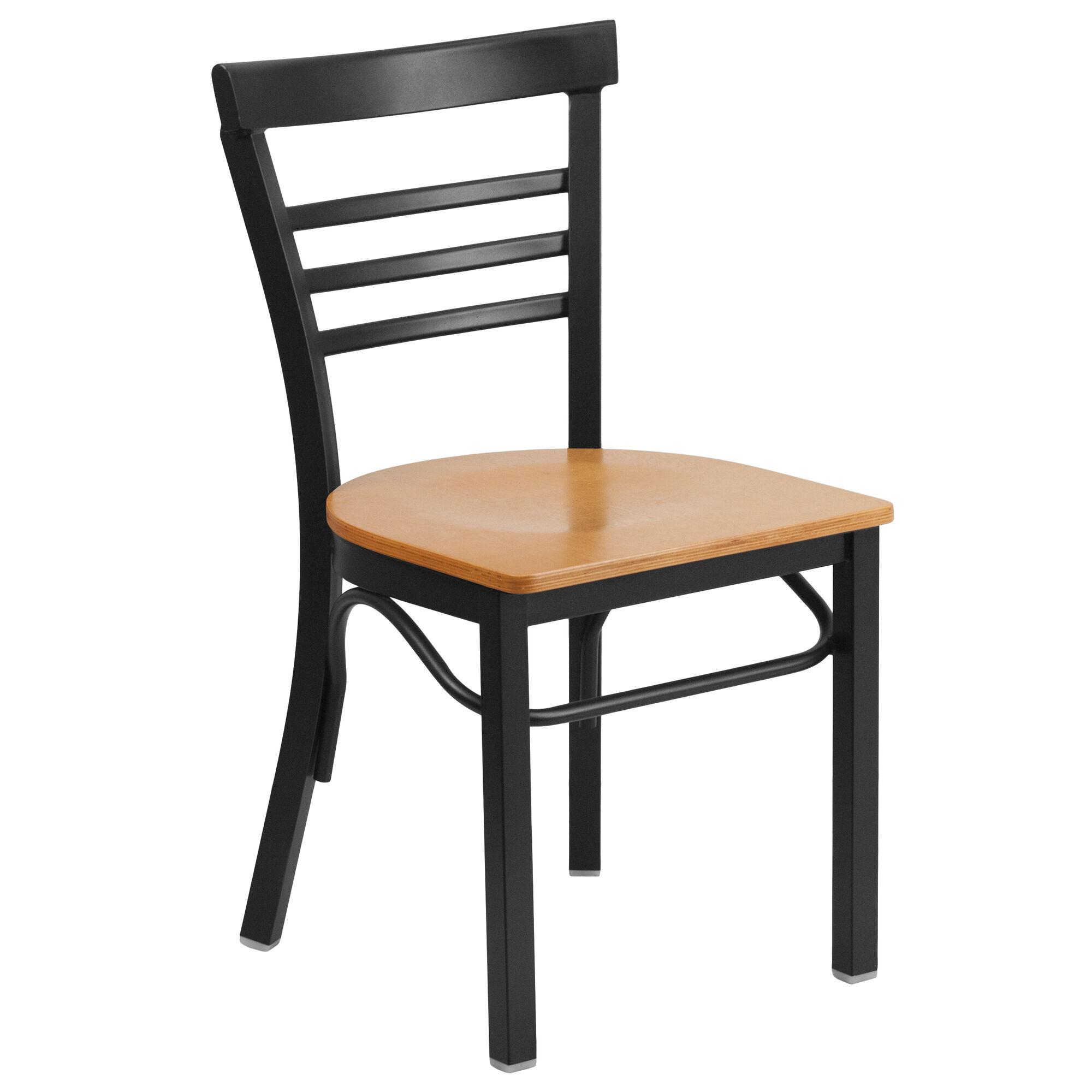 Black ladder chair nat seat bfdh bladnw tdr