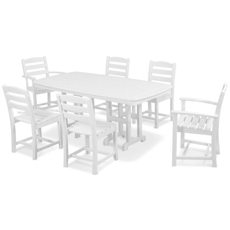 ... Our POLYWOODu0026reg; La Casa Cafe 7 Piece Dining Set   White Is On Sale ...