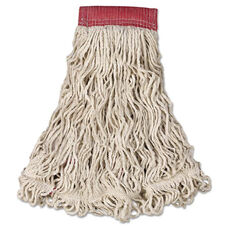 Rubbermaid® Commercial Swinger Loop Wet Mop Head - Large - Cotton/Synthetic - White - 6/Carton