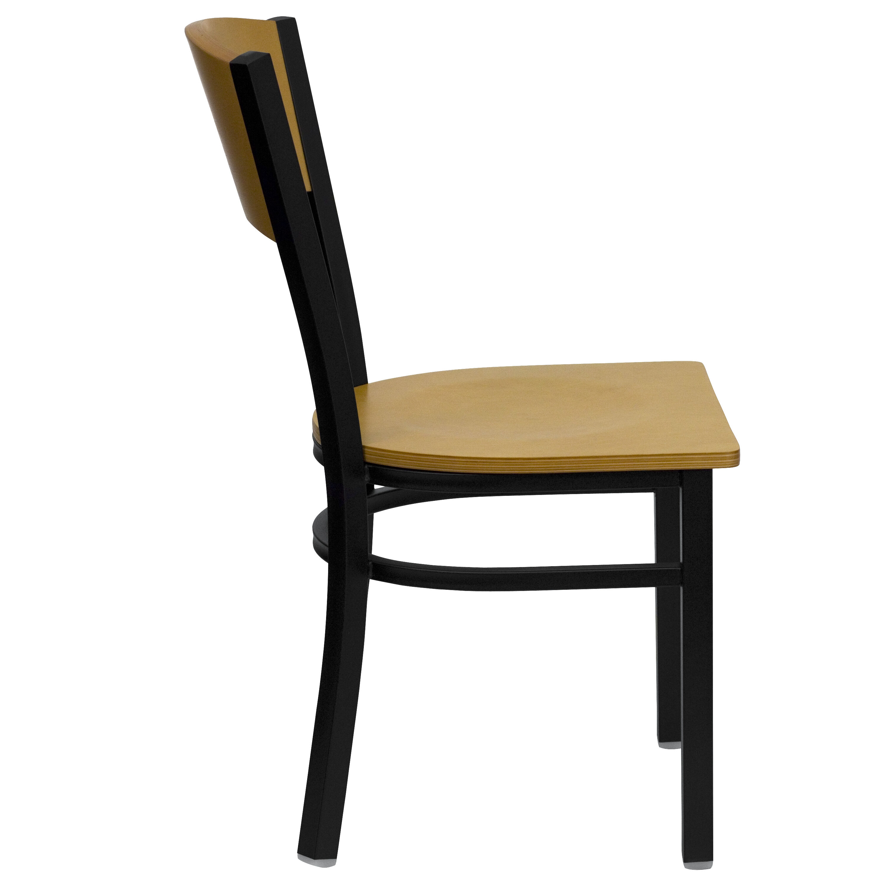 ... Our Black Circle Back Metal Restaurant Chair With Natural Wood Back U0026  Seat Is On Sale ...