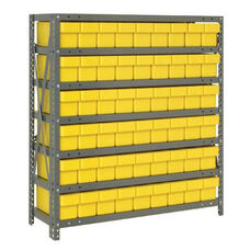 7 Shelf Open Unit with 54 Drawers - Yellow
