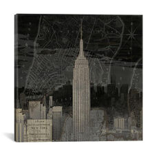 Vintage New York In Black I by Dylan Matthews Gallery Wrapped Canvas Artwork