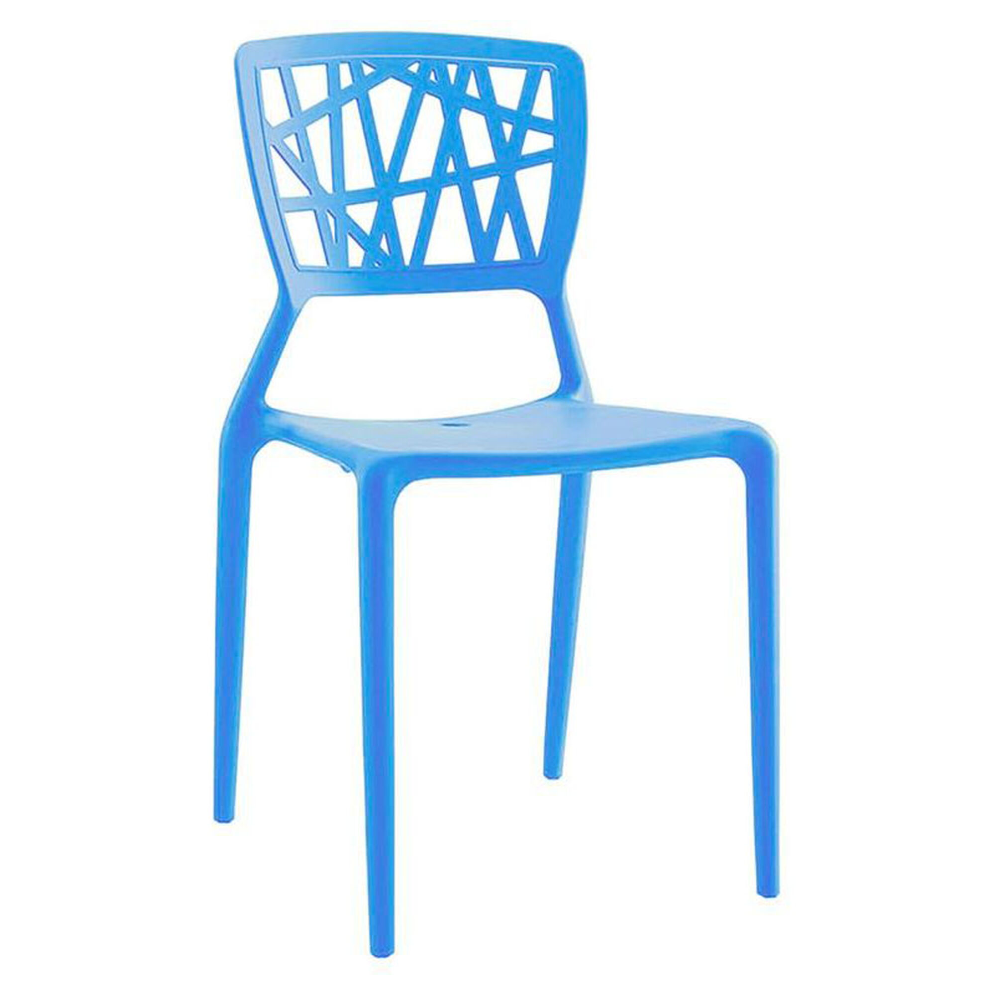Set Of 4 Blue Stack Side Chairs Ls 9601 Blu