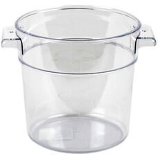 Round Food Storage Container in Clear Polycarbonate