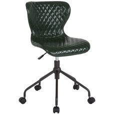 Somerset Home and Office Upholstered Task Chair in Green Vinyl