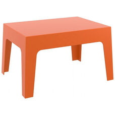 Box Resin Outdoor Stackable Coffee Table - Orange
