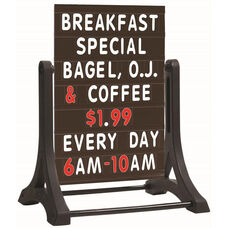 The Rocker Frameless Double Sided Sidewalk Sign with Black Letterboard - 36