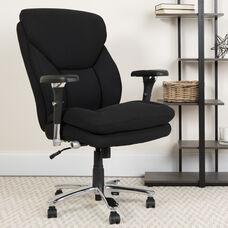 HERCULES Series 24/7 Intensive Use Big & Tall 400 lb. Rated Black Fabric Executive Ergonomic Office Chair with Lumbar Knob