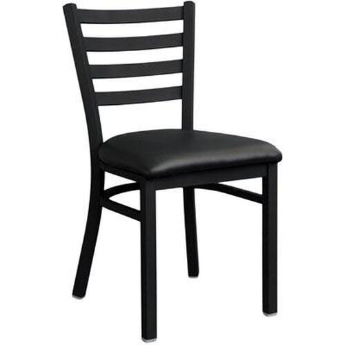 Our Metal Ladder Back Chair with Black Finish is on sale now.