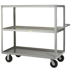 Welded Truck with Push Handle and 3 Lipped Shelves