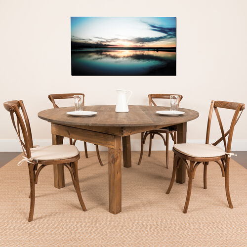 HERCULES Series Round Dining Table   Farm Inspired, Rustic & Antique Pine Dining Room Table