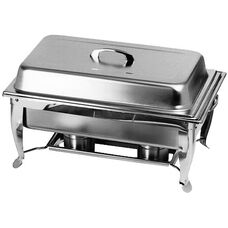 8 Quart Chafer with Foldable Frame and Includes 2 Clip Holders