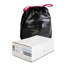 Genuine Joe Drawstring Trash Can Liners - 30 Gal. - 42 per Box - Black