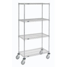 Wire Shelf Stem Caster Truck W/ Pneumatic Wheels - 21