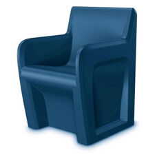 Sentinel Durable ''No Break'' Polyethylene Arm Chair - Slate Blue