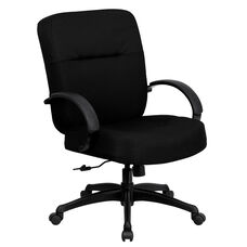 HERCULES Series Big & Tall 400 lb. Rated Black Fabric Executive Swivel Chair with Arms