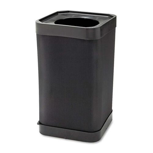 Safco® At-Your Disposal Top-Open Waste Receptacle - Square - Polyethylene - 38gal - Black
