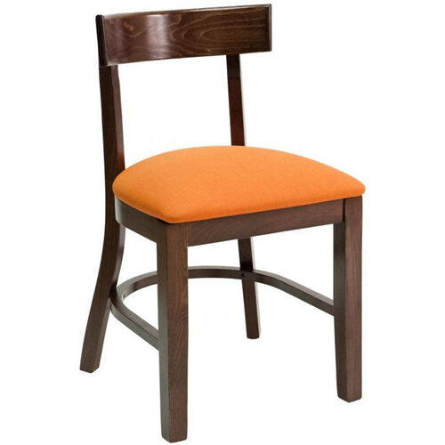 Classic Indoor Collection Beechwood Small Rectangular Back Side Chair - Walnut