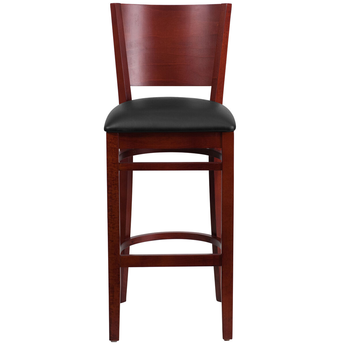 Wood Solid Back Stool Bfdh Dg W0094bar