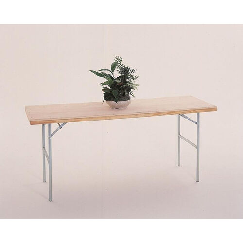Our Fixed Height Display Table with Pine Flush Edge and Plywood Top - 48