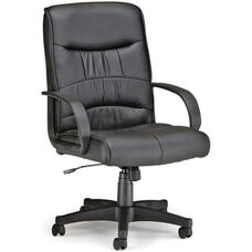 Encore Leatherette Mid-Back Chair - Black