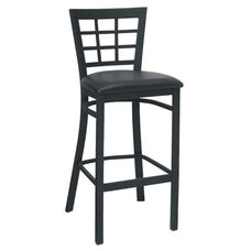 Window Back Metal Barstool - Grade 5 Vinyl