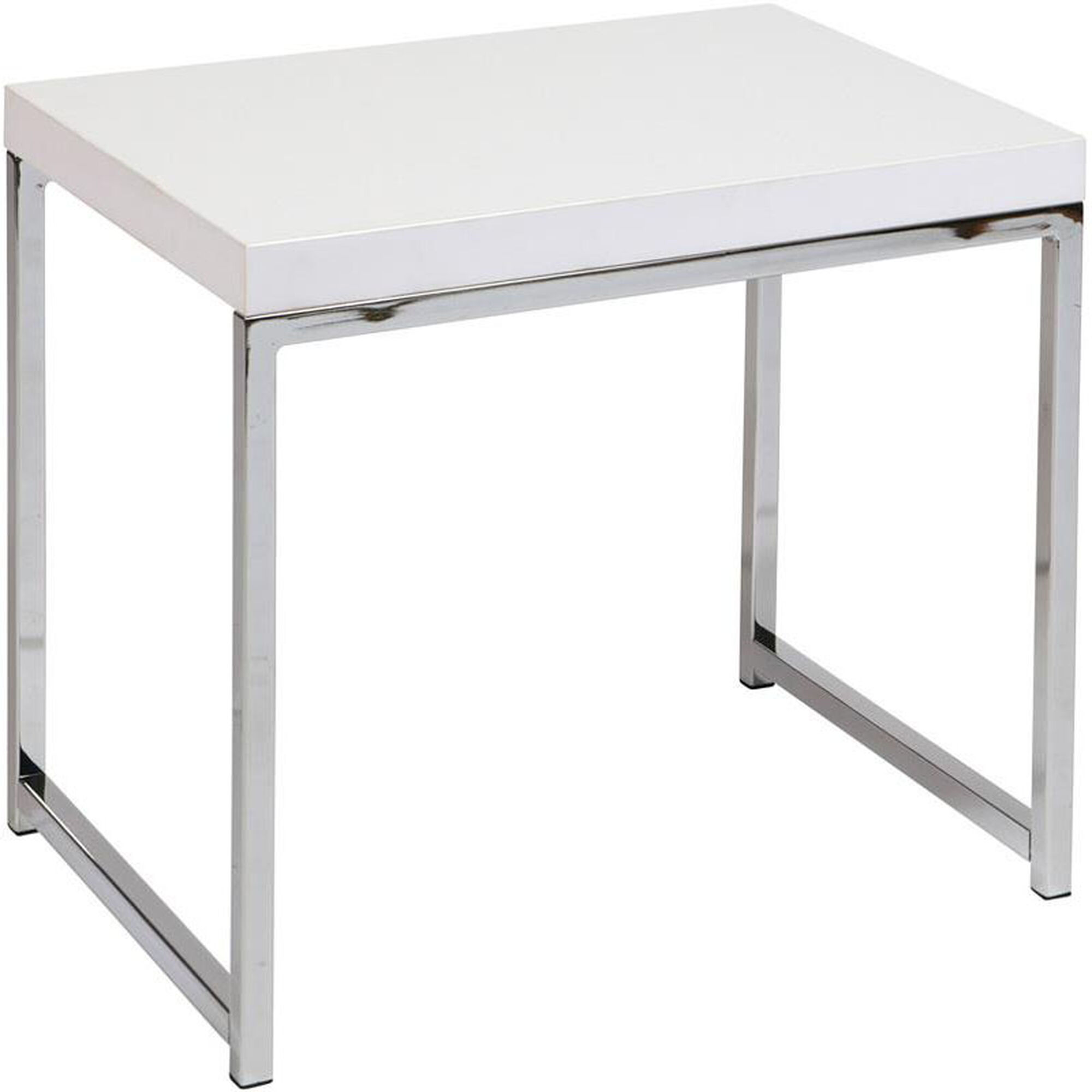 Ave Six White End Table Wst09 Wh