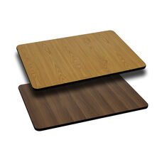 30'' x 42'' Rectangular Table Top with Reversible Natural or Walnut Laminate Top
