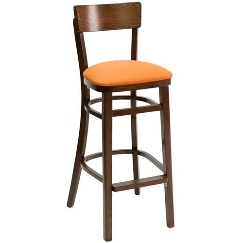 Our Classic Indoor Collection Beechwood Small Rectangular Back Barstool - Walnut is on sale now.