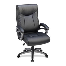 Lorell High -Back Executive Chair - Leather - 27