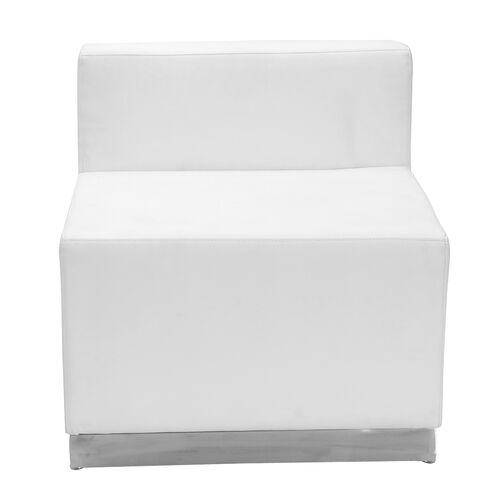 Our HERCULES Alon Series Melrose White LeatherSoft Chair with Brushed Stainless Steel Base is on sale now.