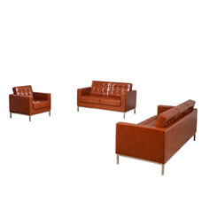 """HERCULES Lacey Series Reception Set in Cognac with <span style=""""color:#0000CD;"""">Free </span> Tables"""