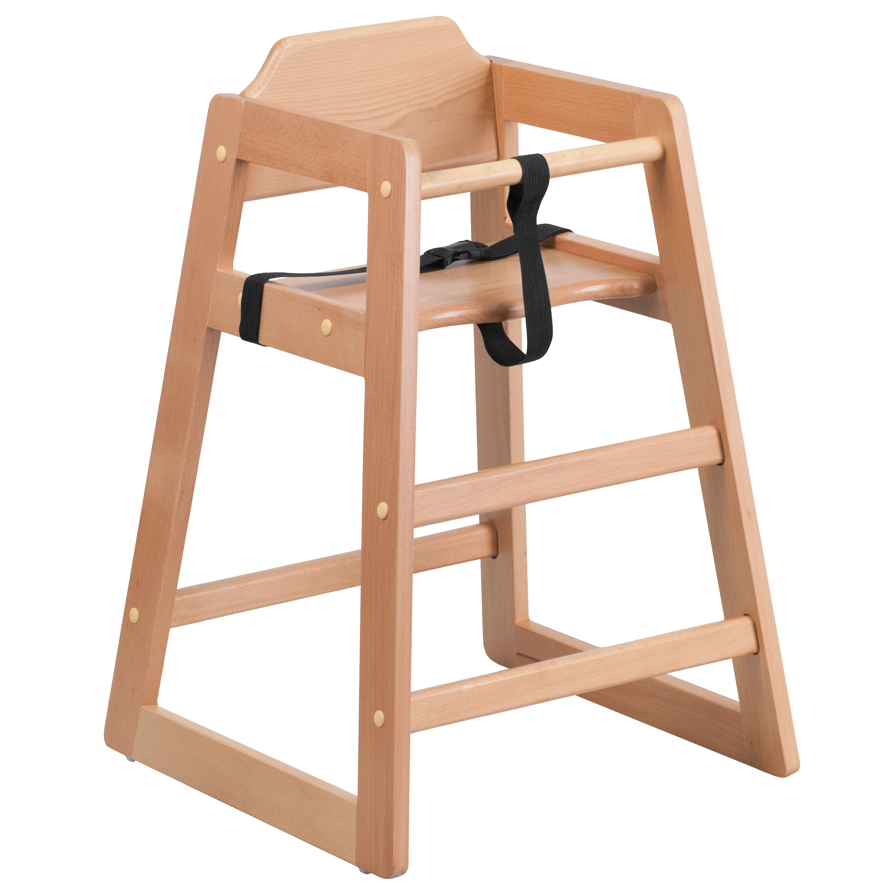Delicieux Stackable Natural Baby High Chair