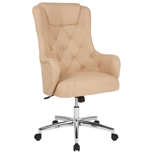 Our Chambord Home and Office Upholstered High Back Chair in Beige Fabric is on sale now.