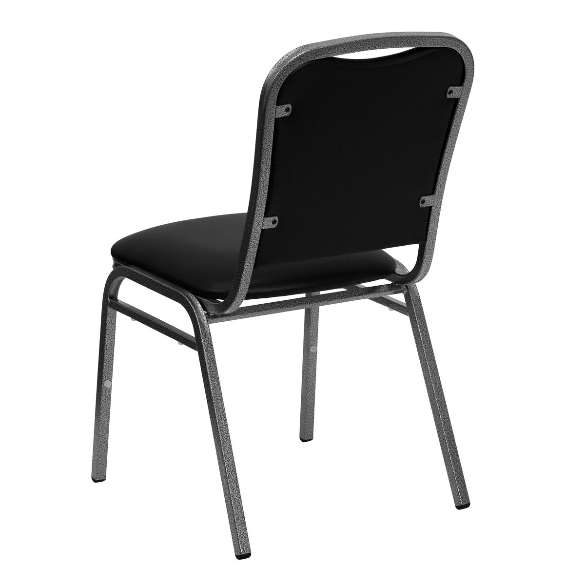 Hercules Series Stacking Banquet Chair In Black Vinyl