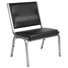 HERCULES Series 1500 lb. Rated Black Antimicrobial Vinyl Bariatric Medical Reception Chair
