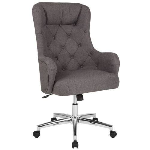 Our Chambord Home and Office Upholstered High Back Chair in Dark Gray Fabric is on sale now.