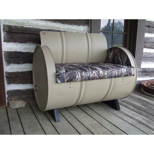 Our DRT Steel Drum Armchair with True Timber® Camo is on sale now.