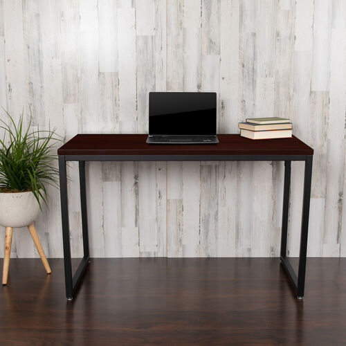 "Our Commercial Grade Industrial Style Office Desk - 47"" Length (Mahogany) is on sale now."