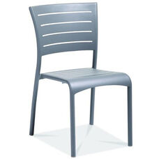Riviera Collection Stackable Silver Aluminum Outdoor Side Chair