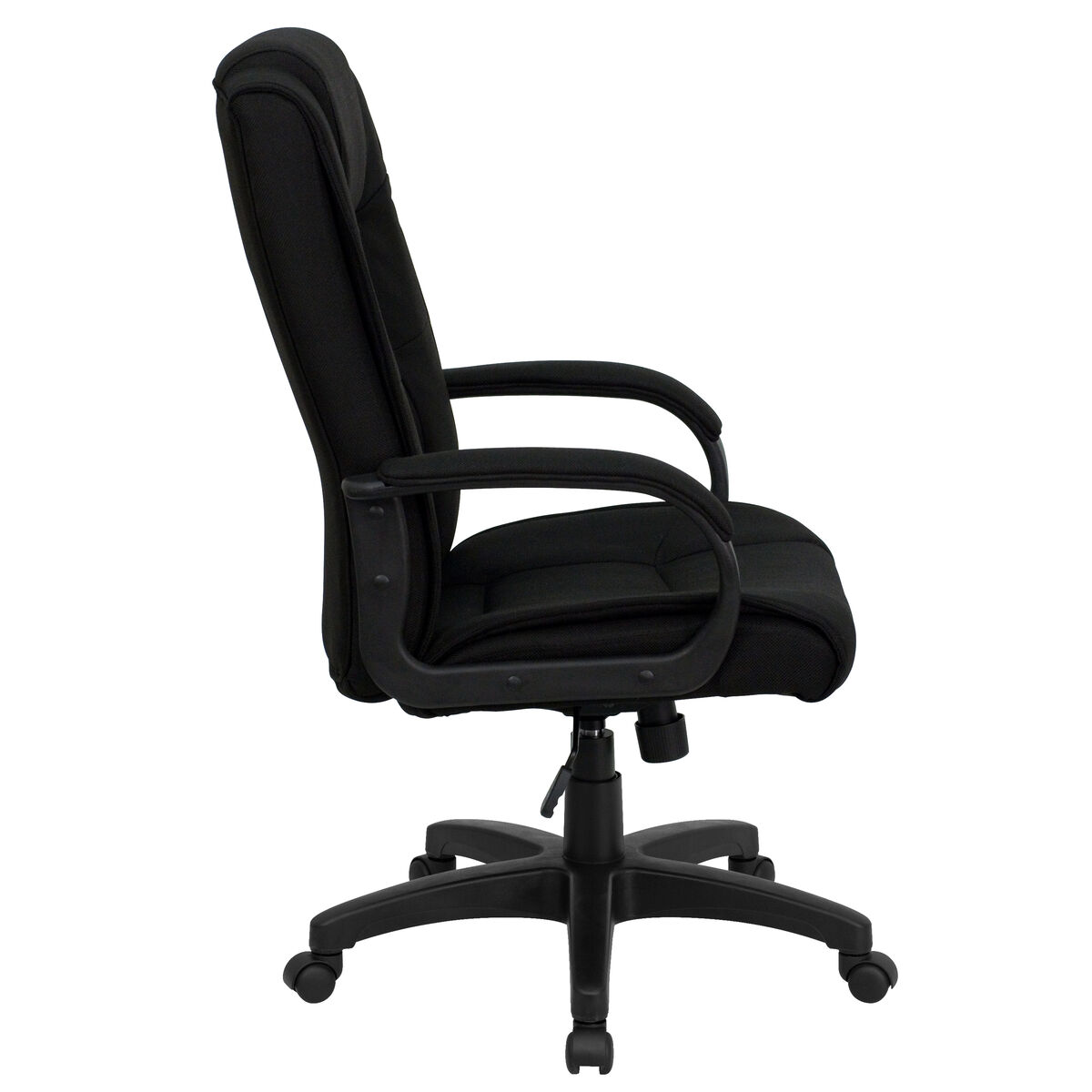 Black High Back Fabric Chair Go 5301b Bk Gg