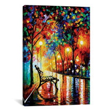 The Loneliness Of Autumn by Leonid Afremov Gallery Wrapped Canvas Artwork