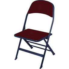 2000 Series Fabric Upholstered Seat and Back Folding Chair with 14.25'' Seat Depth