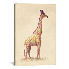 Fashionable Giraffe by Terry Fan Gallery Wrapped Canvas Artwork - 18