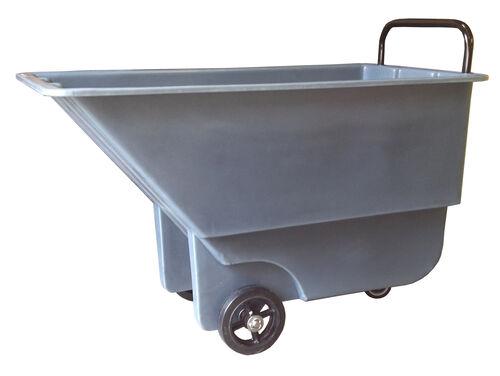 "Bayhead 5/8 Cubic Yard Light Duty Tilt Truck 600lb Capacity - 3"" casters, Gray"