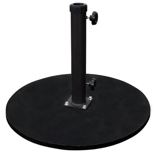 Our Round Black Cast Iron Commercial Grade Umbrella Base - Fits Umbrellas with 2