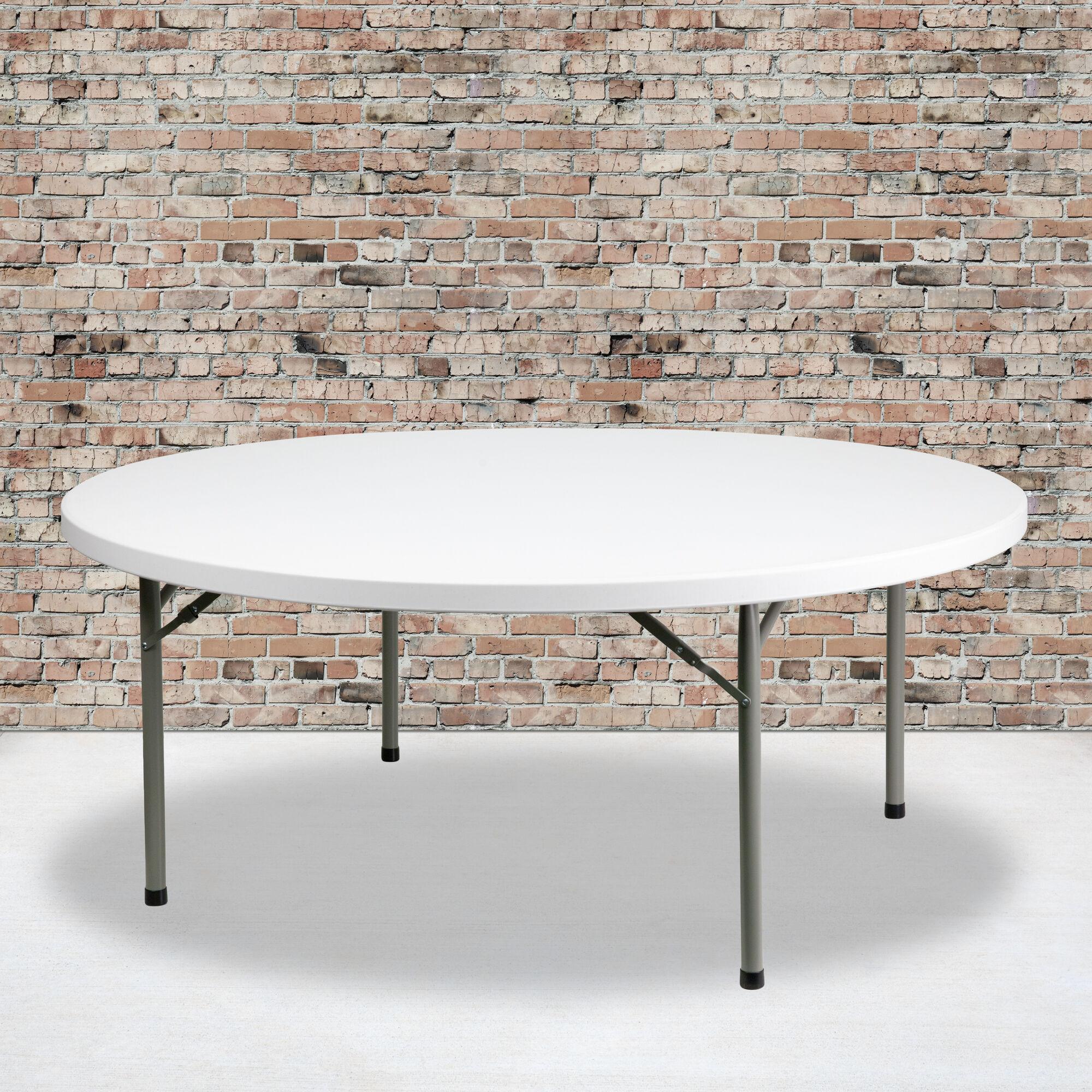 72rd White Plastic Fold Table Dad Ycz 180r Gw Gg Restaurantfurniture4less Com
