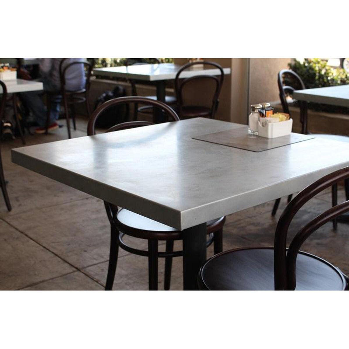 Rectangular zinc table jc restaurantfurniture less
