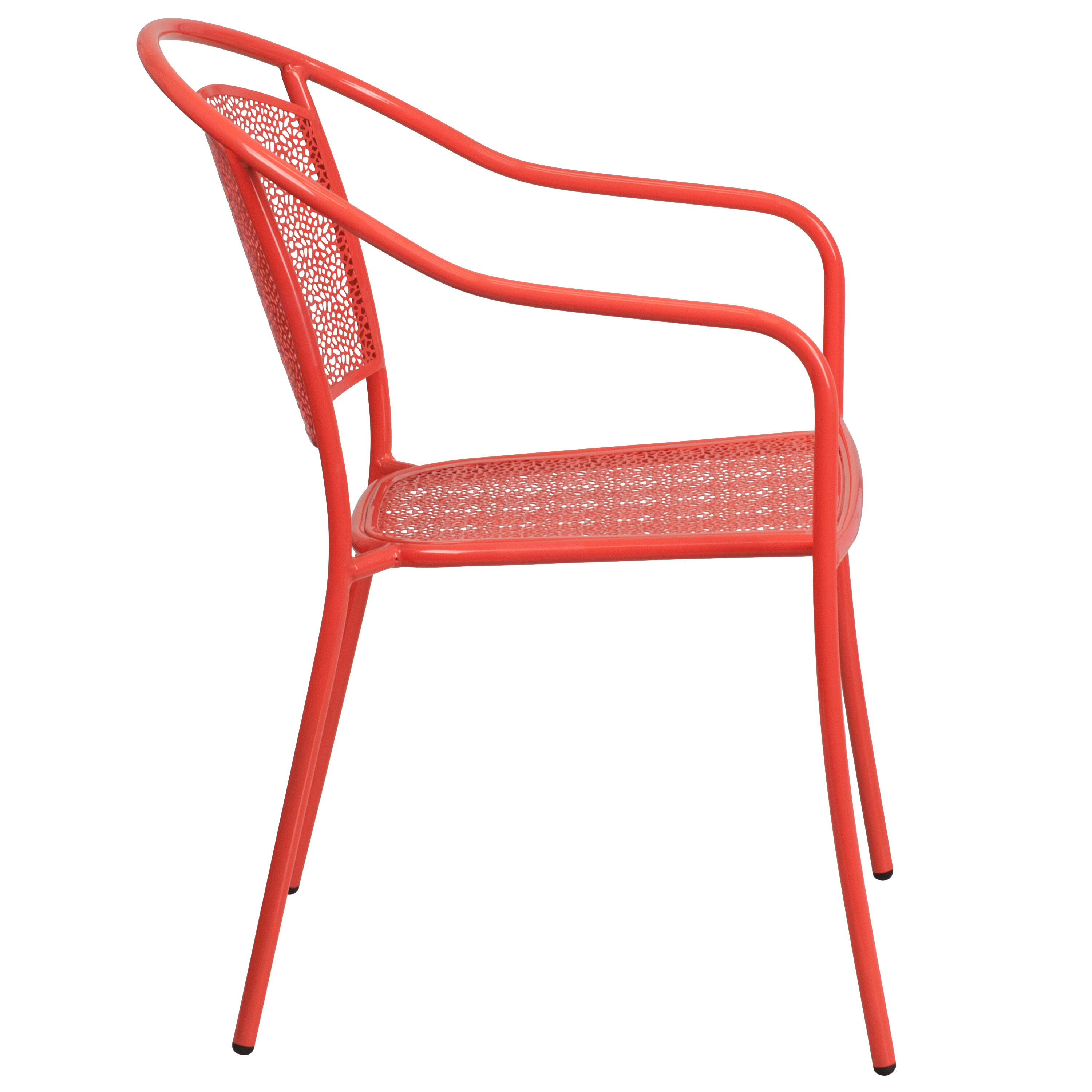 ... Our Coral Indoor Outdoor Steel Patio Arm Chair With Round Back Is On  Sale Now ...