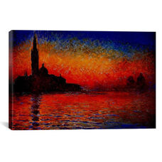 Sunset in Venice by Claude Monet Gallery Wrapped Canvas Artwork